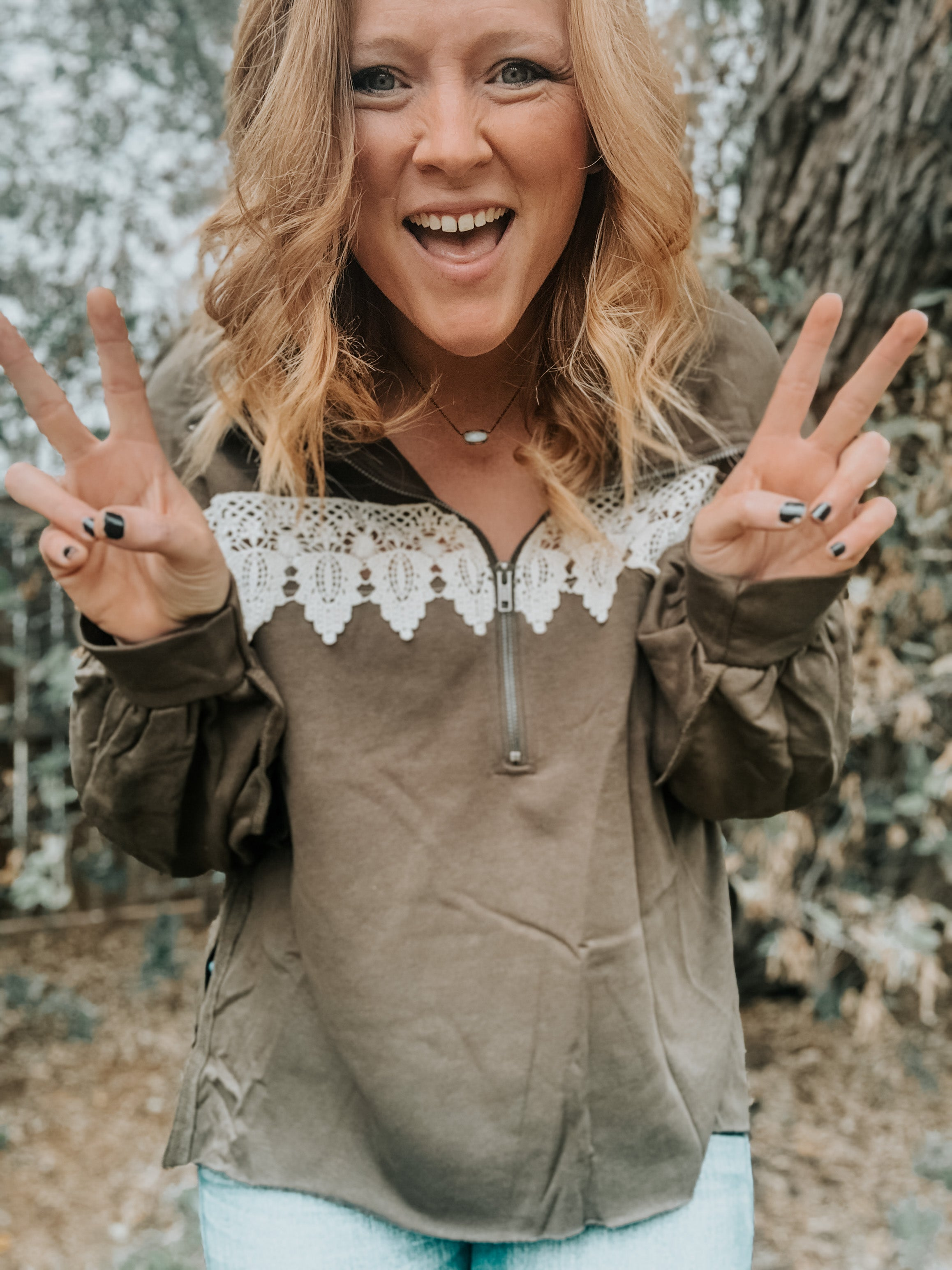 Long Sleeve Heathered Pullover