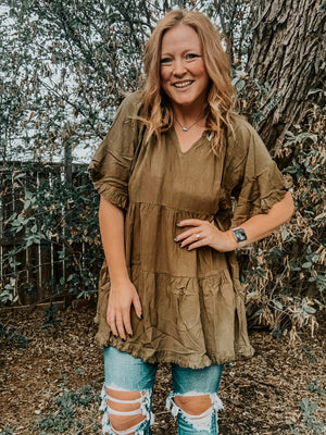 Bell Sleeve Tiered Tunic