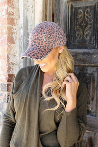 Brown Leopard Hat