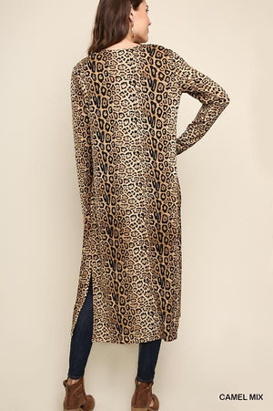 Jaguar Print Long Body Cardigan