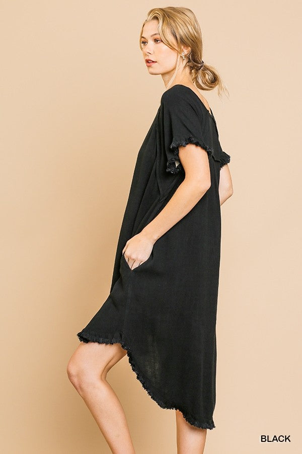 High Low Scoop Hem Dress