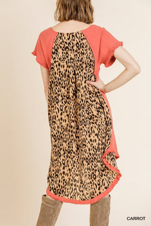 Animal Print Back Dress