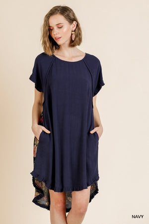 Short Sleeve Round Neck Dress