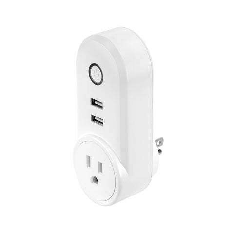 SE-SS302 - Oval WiFi Smart Plug US Single Socket with Dual USB Ports