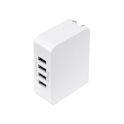 SE-T01 - UL Listed Four USB Port Rapid Charge 4.9A Travel Charger