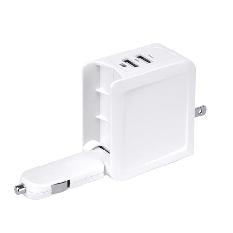 White ADP-TQ34S Seidio USB Travel Charger Car Charger for All