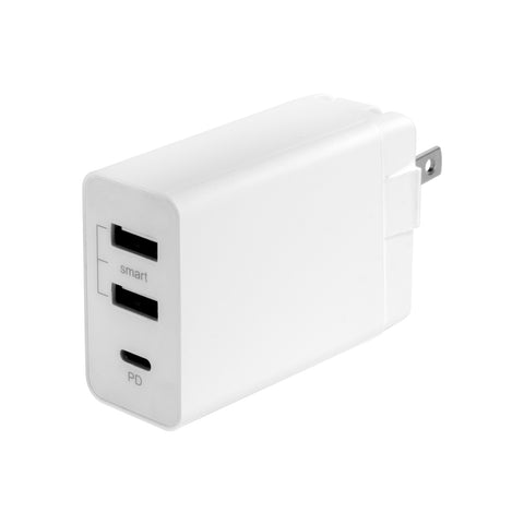 SE-T07 - UL Listed 3-Port USB Home Charger with Type C/PD ports (30W)