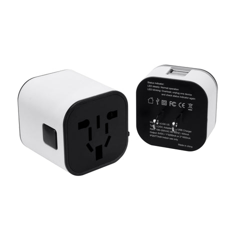 SE-TA201 - 2-USB Ports International Wall Adapter with Night Light