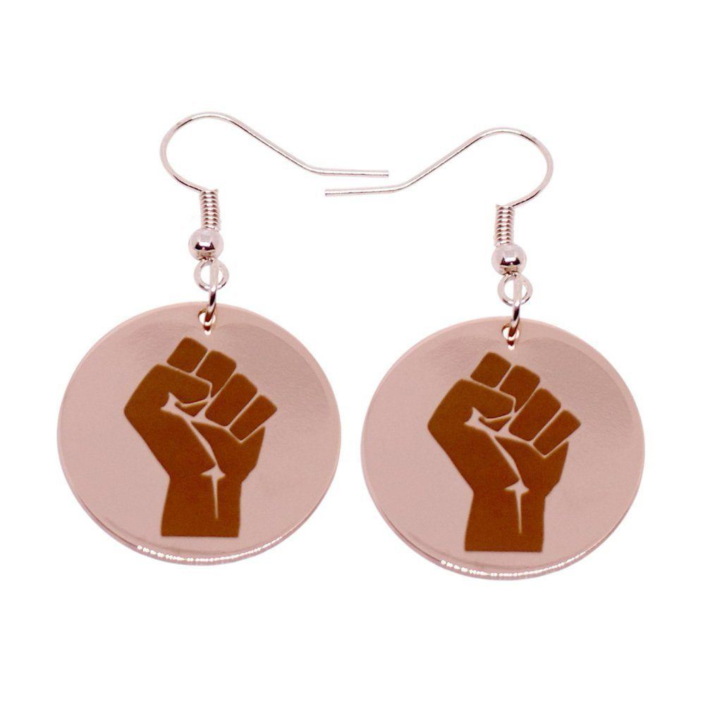 Resistance Earrings (Rose Gold)
