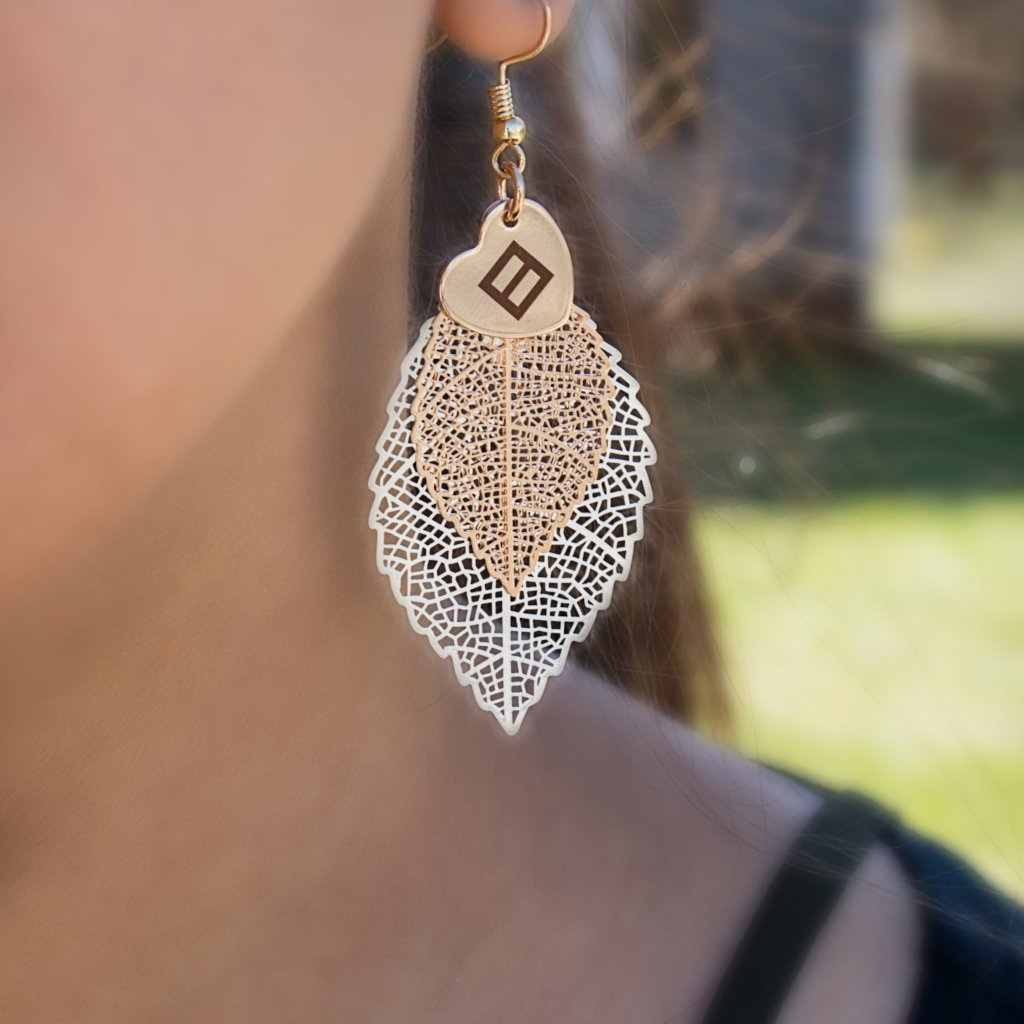 Love is Love Leaf Earrings