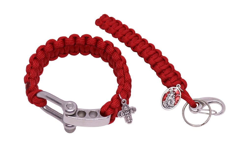 Paracord Confirmation Bracelet and Key Chain Set