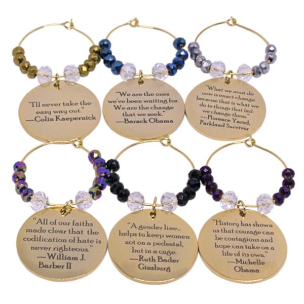 Warriors of Wisdom Wine Charms (Set of 6) Volume I