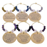 Warriors of Wisdom Wine Charms (Set of 6)