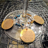 Warriors of Wisdom Wine Charms (Set of 6): Colin, the Obamas, RBG, William Barber