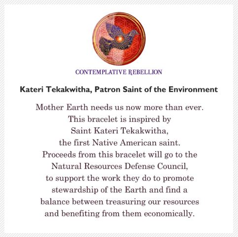 Kateri Tekakwitha, Patron Saint of the Environment