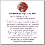 Light of the World, Salt of the Earth