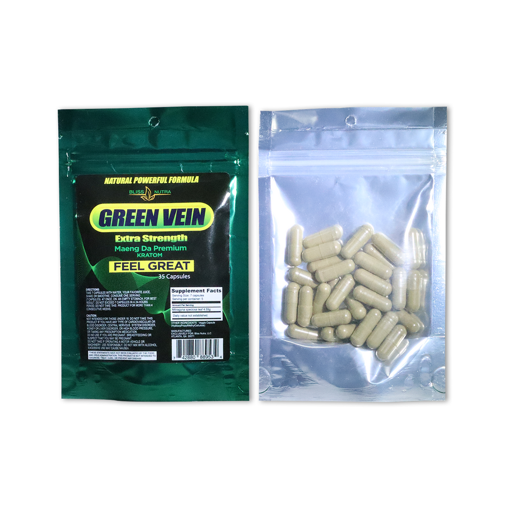 Green Vein - Premium Capsules Pouch (35 Count)