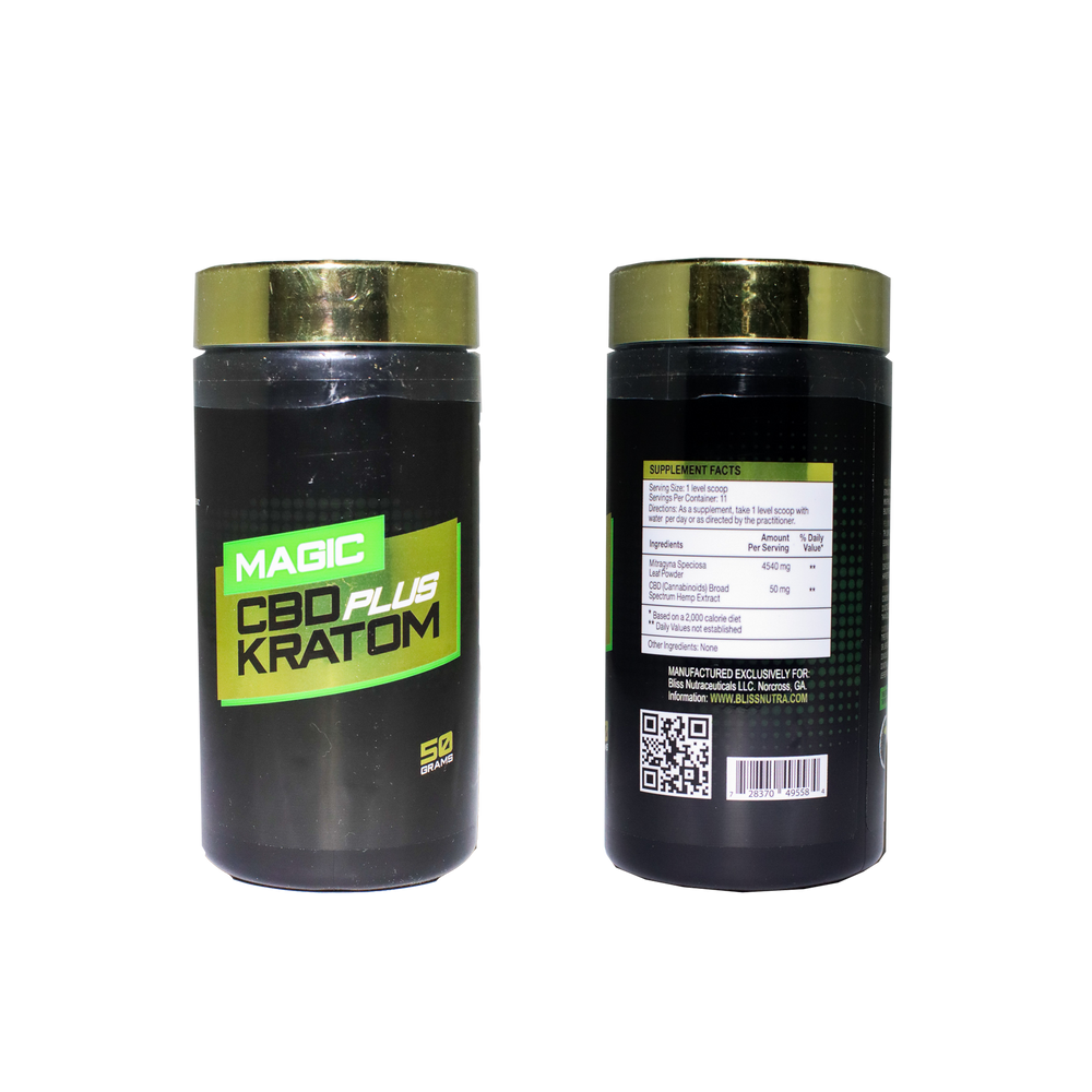 Magic CBD Plus Kratom Powder
