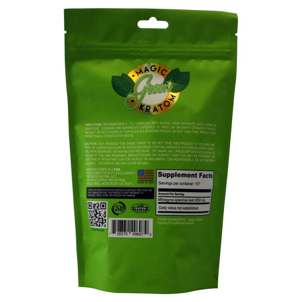 Magic Green Kratom Maeng Da Premium 157 ct