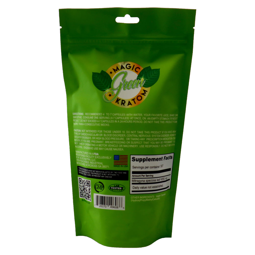 Magic Green Kratom Maeng Da Premium 307 ct