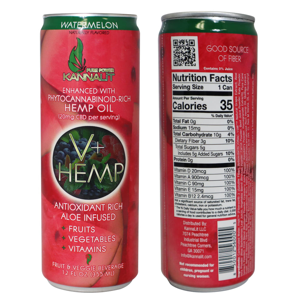 V+Hemp Watermelon Can 12 Oz