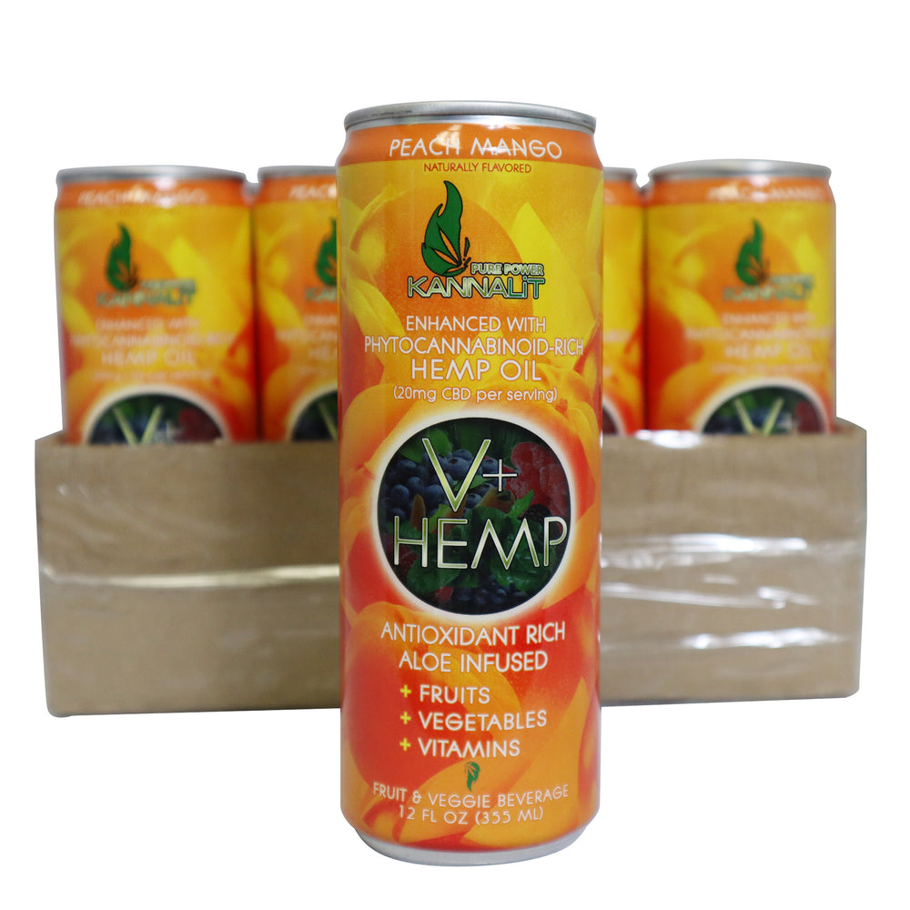 12 pack V+Hemp 12 Can Oz.