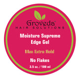 Groveda Hair Solutions Moisture Supreme Edge Gel holds past 24 Hours