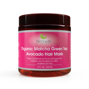 Groveda Organic Matcha Green Tea Avocado Hair Mask