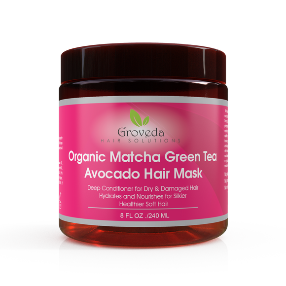 Groveda Organic Matcha Green Tea Avocado Deep Conditioning Hair Mask