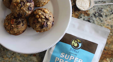 Banana Chocolate Chunk Oatmeal Muffins