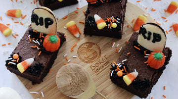 Halloween Protein Brownies