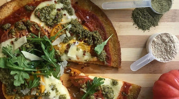Cauliflower Pizza with Superfood Pesto