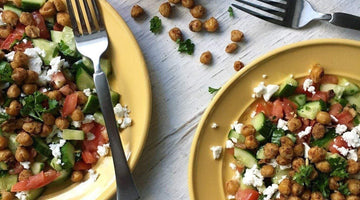 Crispy Chickpea Greek Salad