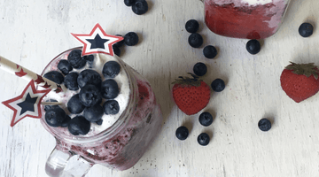 Red, White and Blueberry Smoothie