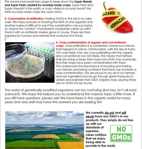 What is a GMO (cont.)