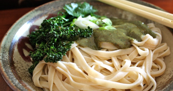 Asian Almond Sesame Spicy Noodle recipe