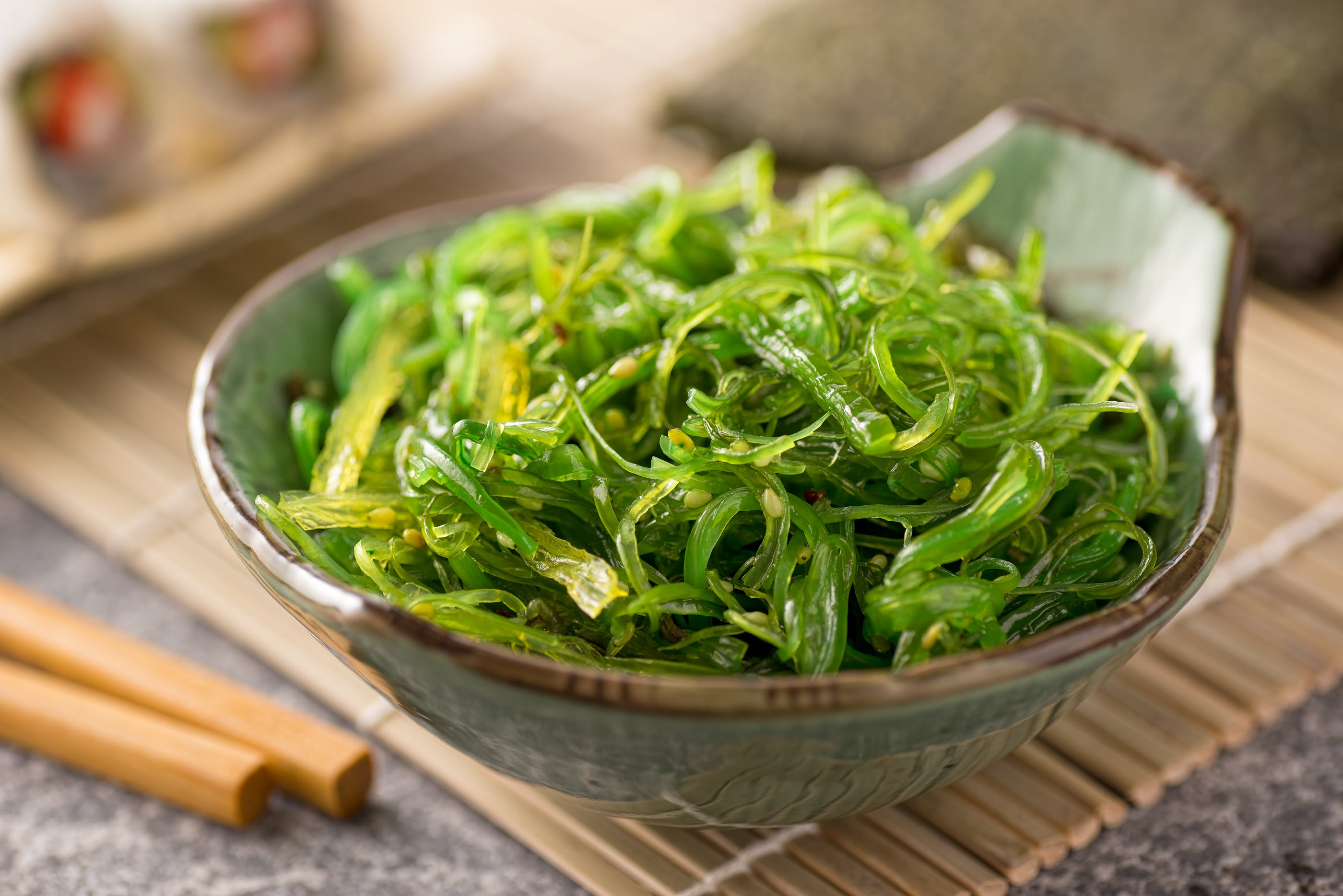 A delicious fresh japanese style seaweed salad. ** Note: Shallow depth of field