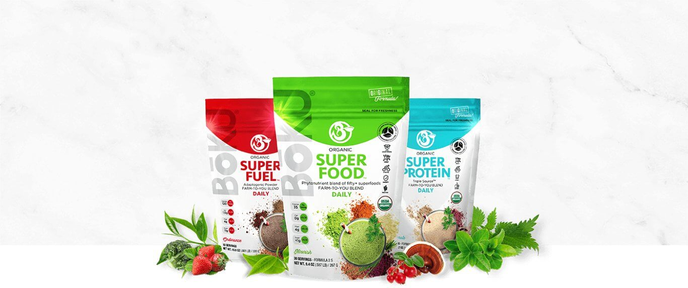 Organic Superfood Powder Mixes - Trifecta