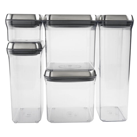 OXO SteeL 5-Piece Airtight Container Set