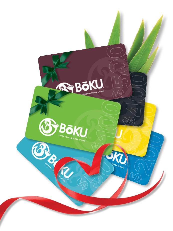 Gift Card BoKU® Superfood | Gift Cards