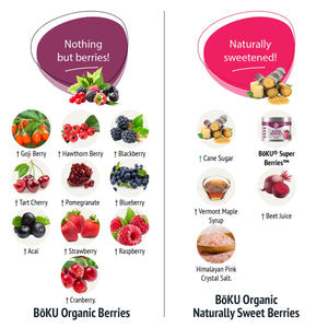 Super Berries- Sweetened Powders BoKU® Superfood