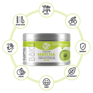 Matcha Green Tea Powders BoKU® Superfood