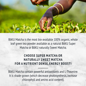 Matcha Green Tea- Sweetened Powders BoKU® Superfood