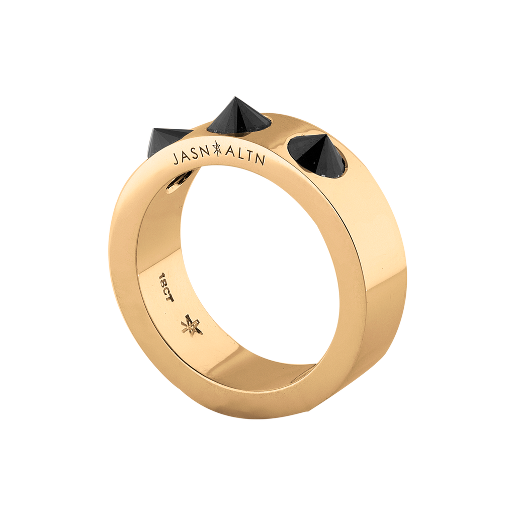 Amor Noir 3 Inverted Wide Black Diamond Band