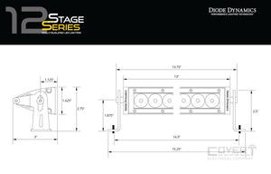 Stage Series 12 Sae/dot Light Bar Led