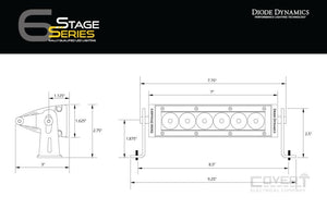 Stage Series 6 Sae/dot Light Bar Led