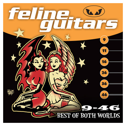 Feline Guitar Strings 9-46 Best Of Both Worlds