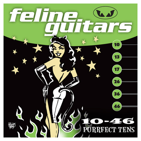 Feline Guitar Strings 10-46 strings Purrfect Tens