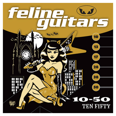 Feline Guitar Strings 10-50 Ten Fifty