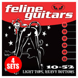 Feline Guitar Strings 10-52 Light Tops, Heavy Bottoms